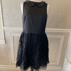 Kensie LBD bling color with lace skirt new large
